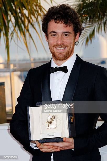 Elio Germano attends the Palme d'Or Award Photocall held at the Palais des Festivals during the 63rd Annual Cannes Film Festival on May 23 2010 in...