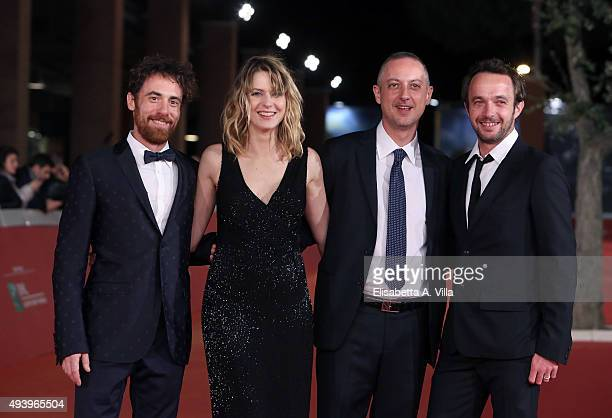 Elio Germano Elena Radonicich Claudio Cupellini and Antoine Oppenheim attend the red carpet for 'Alaska' during the 10th Rome Film Fest at Auditorium...