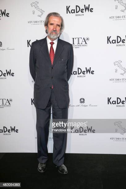 S E Elio Menzione attends the 'Studio Italia La Perfezione del Gusto' Grand Opening at KaDeWe on April 02 2014 in Berlin Germany