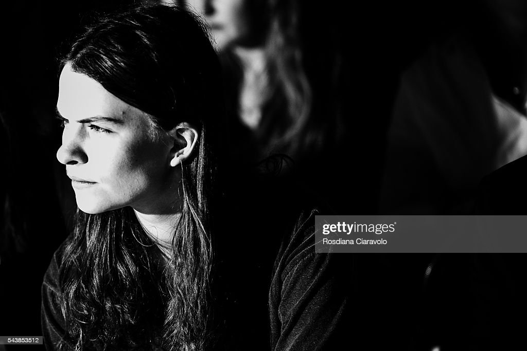 Eliot Paulina Sumner attends Wataru Tominaga presented by Mercedes-Benz & Elle show during the Mercedes-Benz Fashion Week Berlin Spring/Summer 2017 at Erika Hess Eisstadion on June 30, 2016 in Berlin, Germany.
