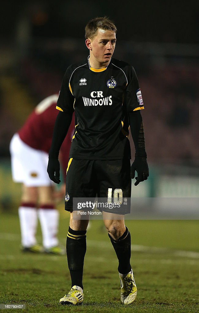 Eliot Richards of Bristol Rovers in action during the npower League Two match between Northampton Town and Bristol Rovers at Sixfields Stadium on February 26, 2013 in Northampton, England.