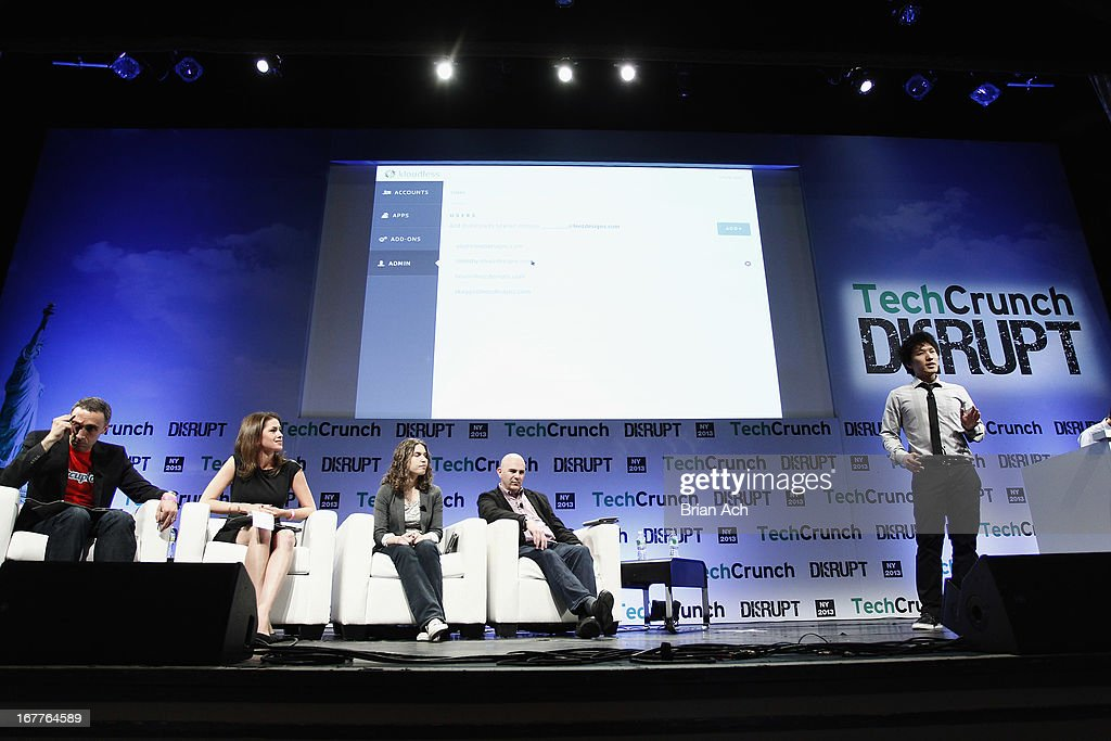 Eliot Sun, CEO and co-founder presents Kloudless onstage at the TechCrunch Disrupt NY 2013 at The Manhattan Center on April 29, 2013 in New York City.