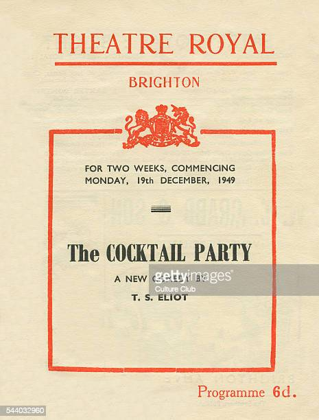 T S Eliot The Cocktail Party a new comedy Programme from Theatre Royal Brighton commencing 19th December 1949