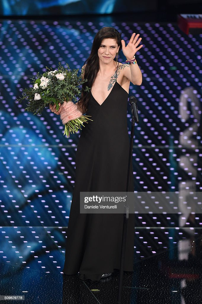 Elisa attends the fourth night of the 66th Festival di Sanremo 2016 at Teatro Ariston on February 12, 2016 in Sanremo, Italy.