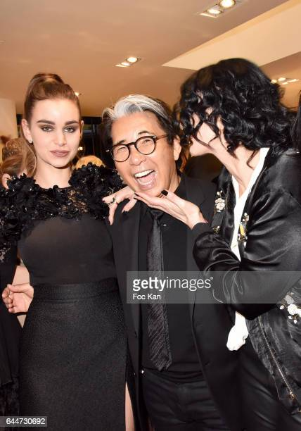 Elisa Bachir Bey Kenzo Takada and Sylvie Ortegas Munos attend 'Facade16' Magazine Issue Launch at Colette on February 23 2017 in Paris France
