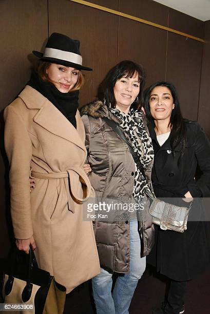 Elisa Bachir Bey producer Elisabeth Deshayes and Fatima Adoum attend ' Un Gout D'Amertume' Screening Party at Le Lincoln Cinema on November 20 2016...
