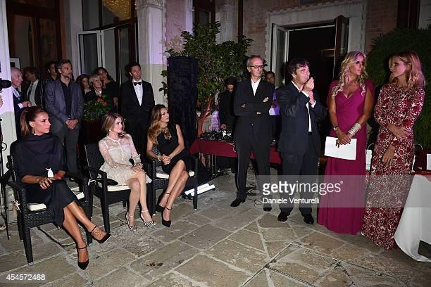 Elisa Di Francisca Alexandra Dinu Anna Tatangelo Angelo Ascoli Tiziana Rocca and Filippa Lagerback attend 'Diva e Donna' Party during the 71st Venice...