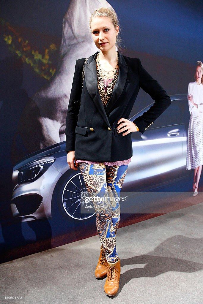 Elisa Gianna Gerlach attends Mercedes-Benz Fashion Week Autumn/Winter 2013/14 at the Brandenburg Gate on January 17, 2013 in Berlin, Germany.