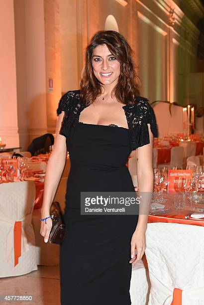 Elisa Isoardi attends Gala Telethon during the 9th Rome Film Festival at Auditorium Parco Della Musica on October 23 2014 in Rome Italy