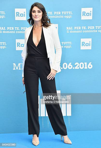 Elisa Isoardi attends Rai Show Schedule Presentation In Milan on June 28 2016 in Milan Italy