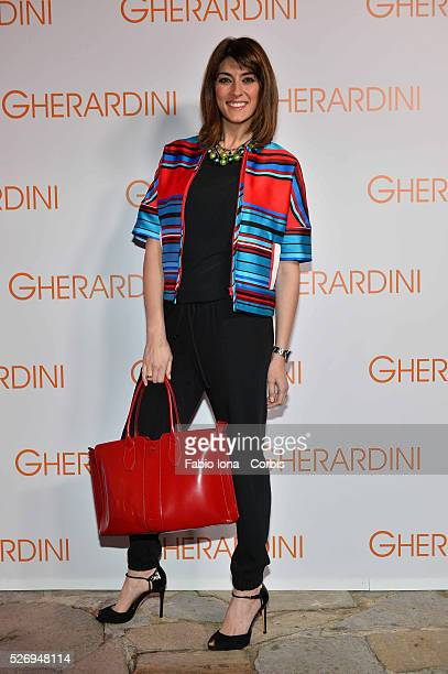 Elisa Isoardi attends the Gherardini presentation during Milan fashion Week on February 21 2014 in Milan Italy
