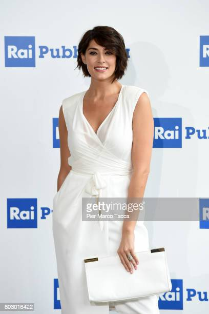 Elisa Isoardi attends the Rai show schedule presentation at Statale University of Milan on June 28 2017 in Milan Italy