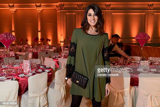Elisa Isoardi attends the Telethon Gala during the 10th Rome Film Fest on October 21 2015 in Rome Italy