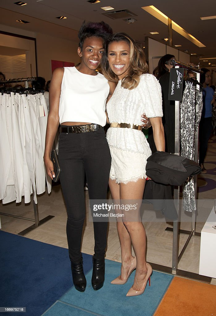 Elisa Johnson and Melody Thornton attend Cookie Johnson And Neiman Marcus Host Girls Night Out on April 18, 2013 in Beverly Hills, California.