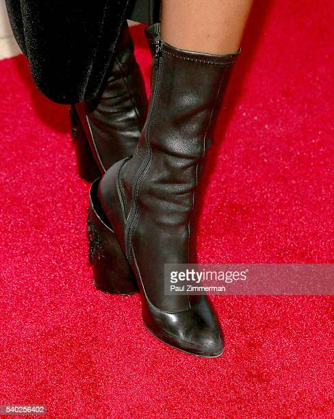 Elisa Johnson boot detail at the 2016 National Urban Technology Center Gala Awards Dinner at Gustavino's on June 14 2016 in New York City
