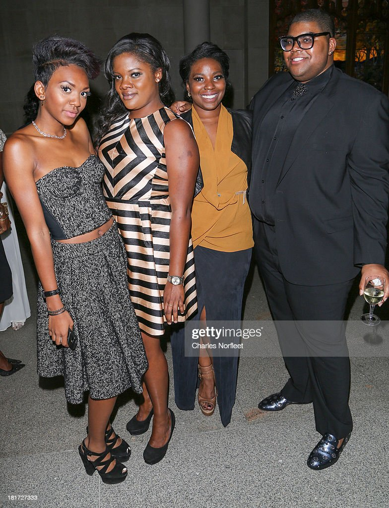 Elisa Johnson, Zoey Jackson, Olivia Washington and EJ Johnson attend 2013 Multicultural Gala: An Evening Of Many Cultures at Metropolitan Museum of Art on September 23, 2013 in New York City.