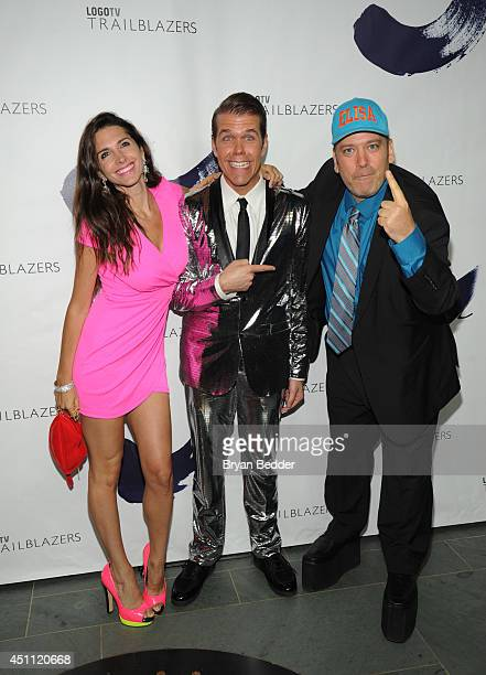 Elisa Jordana Perez Hilton and Benjy Bronk attend Logo TV's 'Trailblazers' at the Cathedral of St John the Divine on June 23 2014 in New York City