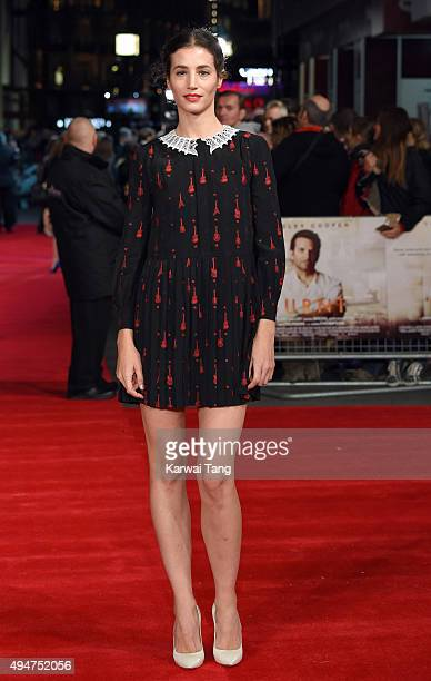 Elisa Lasowski attends the UK Film Premiere of 'Burnt' at Vue West End on October 28 2015 in London England