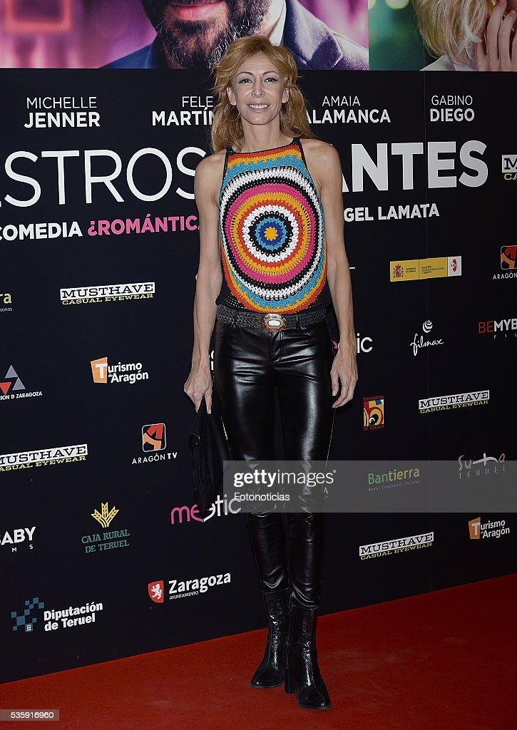 Elisa Matilla attends the 'Nuestros Amantes' premiere at Palafox cinema on May 30, 2016 in Madrid, Spain.