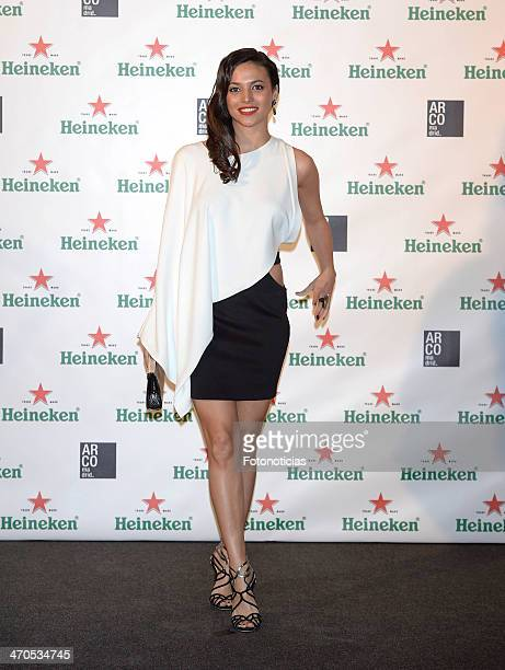 Elisa Mouliaa attends ARCOMadrid by Heineken cocktail party at the Palacio de Fernan Nunez on February 19 2014 in Madrid Spain