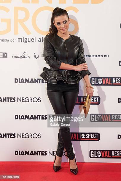 Elisa Mouliaa attends 'Diamantes Negros' Madrid Premiere at Palafox cinema on November 25 2013 in Madrid Spain