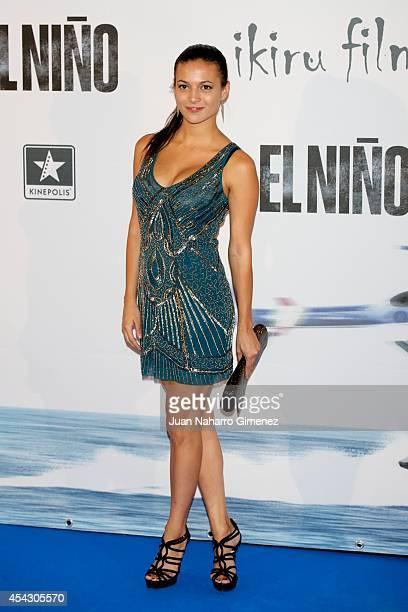 Elisa Mouliaa attends 'El Nino' premiere at Kinepolis Cinema on August 28 2014 in Madrid Spain