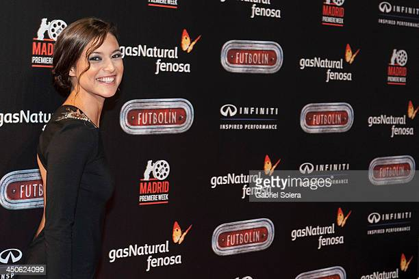 Elisa Mouliaa attends 'Futbolin' Madrid Premiere at Callao cinema on November 19 2013 in Madrid Spain