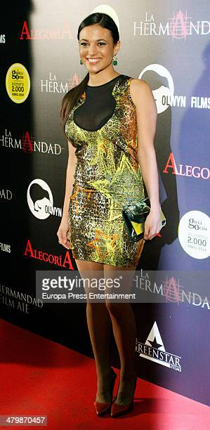Elisa Mouliaa attends 'La Hermandad' Madrid Premiere on March 20 2014 in Madrid Spain