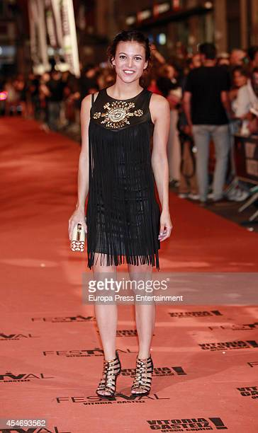 Elisa Mouliaa attends the 'Aguila Roja' new season premiere during the 6th FesTVal Television Festival 2014 on September 4 2014 in VitoriaGasteiz...
