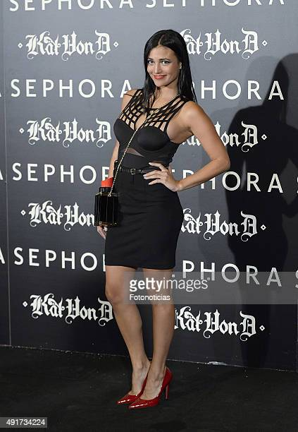 Elisa Mouliaa attends the launch of the 'Kat Von D Beauty' make up collection at Callao Cinema on October 7 2015 in Madrid Spain