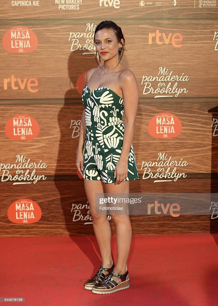 Elisa Mouliaa attends the 'Mi Panaderia de Brooklyn' premiere at Capitol cinema on June 30, 2016 in Madrid, Spain.