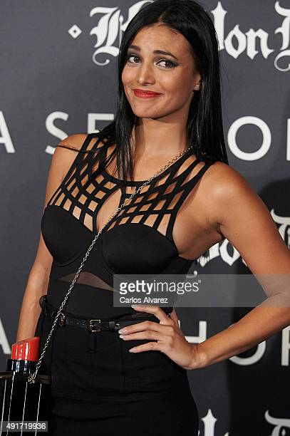 Elisa Mouliaa attends the presentation of the new Make Up Collection 'Kat Von D Beauty' at the Callao cinema on October 7 2015 in Madrid Spain