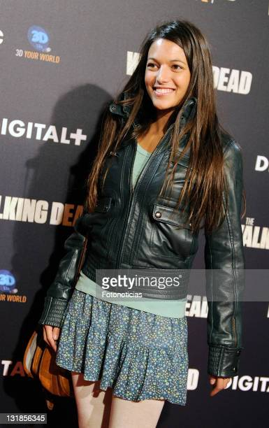 Elisa Mouliaa attends 'The Walking Dead' premiere at the Capitol Cinema on November 3 2010 in Madrid Spain