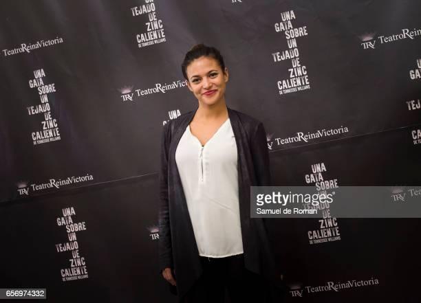 Elisa Mouliaa attends 'Una Gata Sobre Un Tejado de Zinc Caliente' Madrid Premiere on March 23 2017 in Madrid Spain