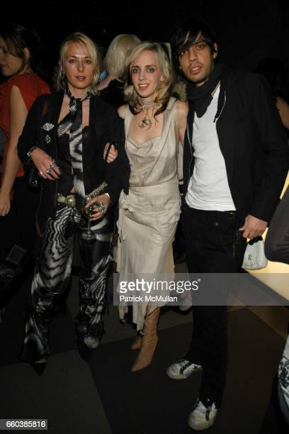 Elisa Overland Hope Atherton Nikhil Sharma attend Louis Vuitton's 150th Anniversary Party held at Damrosch Park at Lincoln Center on February 10 2004...