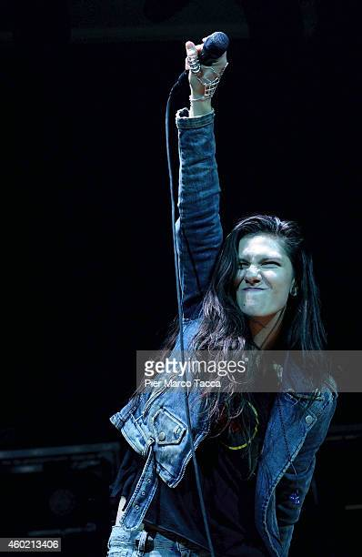 Elisa performs on stage at Alcatraz club on December 9 2014 in Milan Italy