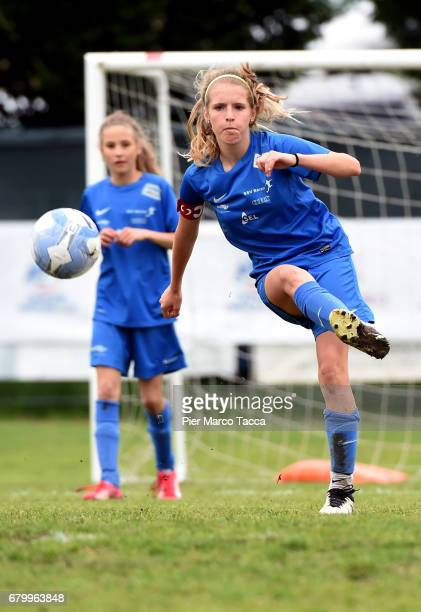 Elisa Pfattner of SSV Brixen obi Women Under 12 in action during the match between AC Milan and SSV Brixen obi for Danone Nations Cup 2017 on May 7...