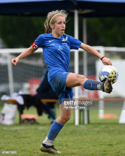 Elisa Pfattner of SSV Brixen obi Women Under 12 in action during the match between Hellas Verona and SSV Brixen obi for Danone Nations Cup 2017 on...