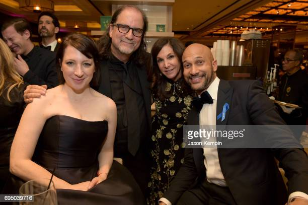 Elisa Pugliese Glenn Weiss Jan Svendsen and KeeganMichael Key attends the 2017 Tony Awards Gala at The Plaza Hotel on June 11 2017 in New York City