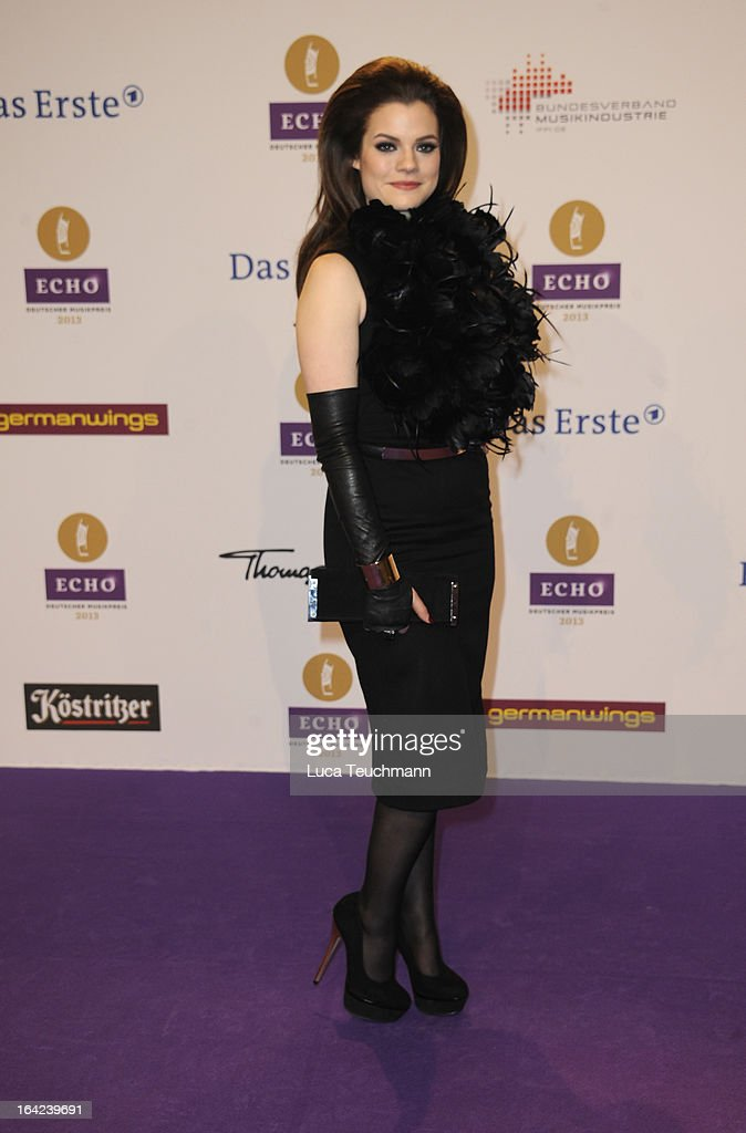 Elisa Schmidt attends the Echo Award 2013 at Palais am Funkturm on March 21, 2013 in Berlin, Germany.