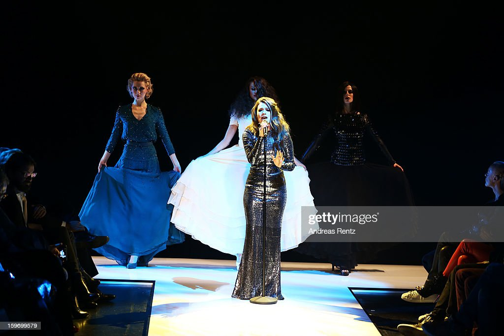 Elisa Schmidt performs at the Michalsky Style Nite Autumn/Winter 2013/14 Show at the Mercedes-Benz Fashion Week at Tempodrom on January 18, 2013 in Berlin, Germany.