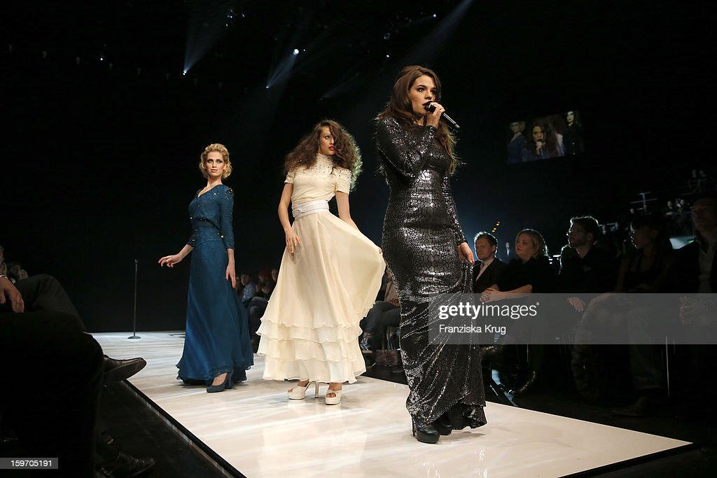 Elisa Schmidt performs at the 'Michalsky Style Nite Show - Mercesdes-Benz Fashion Week Autumn/Winter 2013/14' at Tempodrom on January 18, 2013 in Berlin, Germany.
