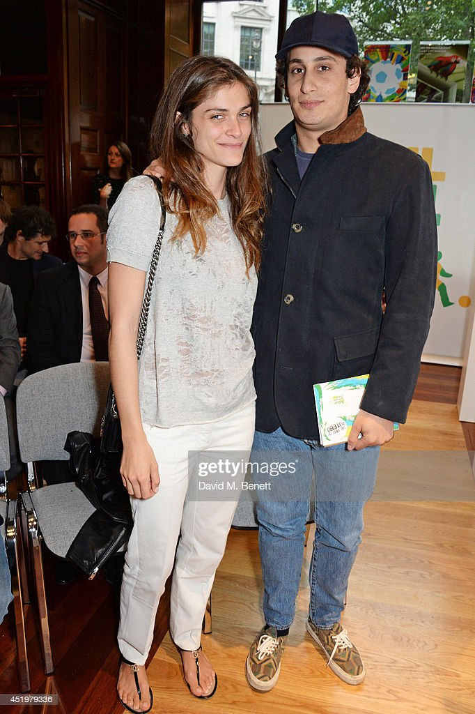 <a gi-track='captionPersonalityLinkClicked' href=/galleries/search?phrase=Elisa+Sednaoui&family=editorial&specificpeople=5525386 ng-click='$event.stopPropagation()'>Elisa Sednaoui</a> (L) and <a gi-track='captionPersonalityLinkClicked' href=/galleries/search?phrase=Alex+Dellal&family=editorial&specificpeople=724081 ng-click='$event.stopPropagation()'>Alex Dellal</a> attend 'The Art Of Futebol' charity auction in support of Action for Brazil's Children Trust at the Embassy of Brazil on July 10, 2014 in London, England.