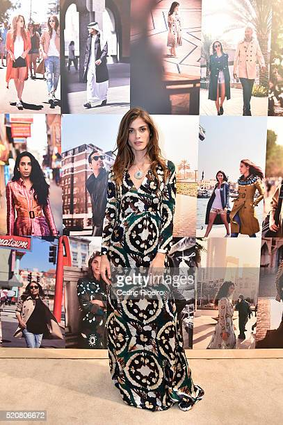 'DUBAI UNITED ARAB EMIRATES APRIL 12 Elisa Sednaoui at the Burberry Art of the Trench Middle East event at Mall of the Emirates on April 12 2016 in...