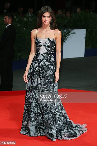Elisa Sednaoui attends a premiere for 'De Palma' and JaegerLeCoultre Glory to the Filmmaker 2015 Award during the 72nd Venice Film Festival at Sala...