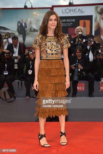 Elisa Sednaoui attends a premiere for 'The Danish Girl' during the 72nd Venice Film Festival at on September 5 2015 in Venice Italy