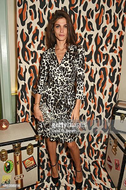 Elisa Sednaoui attends a private dinner celebrating the Charlotte Olympia SS16 Collection during LFW at Daphne's on September 20 2015 in London...
