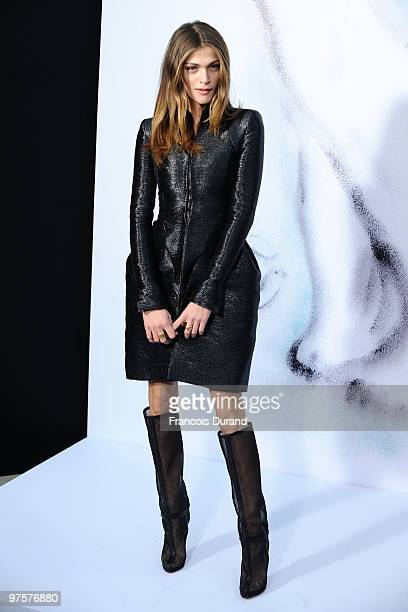 Elisa Sednaoui attends the Chanel Ready to Wear show as part of the Paris Womenswear Fashion Week Fall/Winter 2011 at Grand Palais on March 9 2010 in...