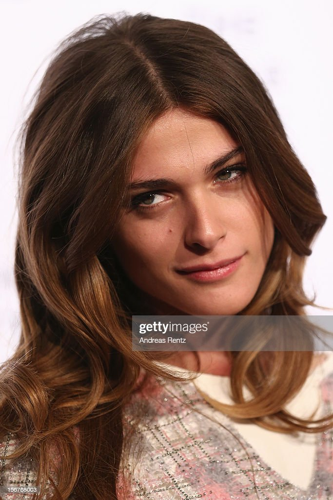 Elisa Sednaoui attends the CHANEL 'The Little Black Jacket' - Exhibition Opening by Karl Lagerfeld and Carine Roitfeld on November 20, 2012 in Berlin, Germany.