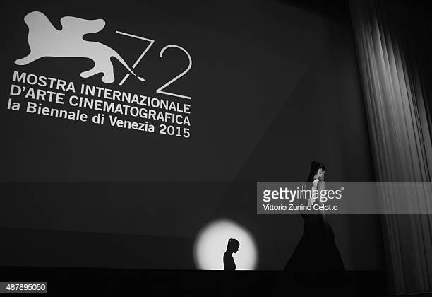 Elisa Sednaoui attends the closing ceremony during the 72nd Venice Film Festival on September 12 2015 in Venice Italy